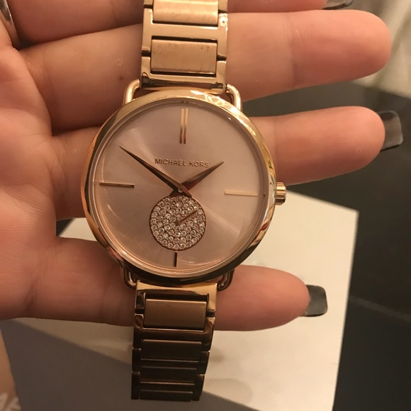 844e3800c6bf Michael Kors Women s Rose gold tone Portia Watch. M 5a80945b077b9727f4832cd0